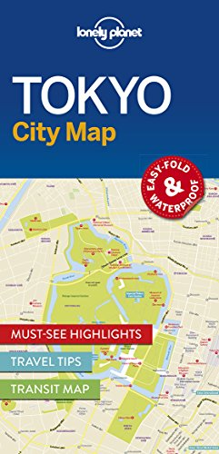 Lonely Planet Tokyo City Map (Travel Guide)